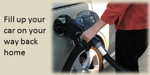 Fill up your car on your way back home