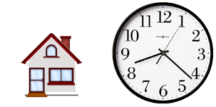 Focus on the time at which you need to get out of the house